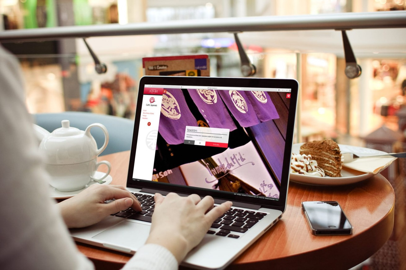 café japonais.jegher.fr | website mockup by Artlinkz | Responsive CMS
