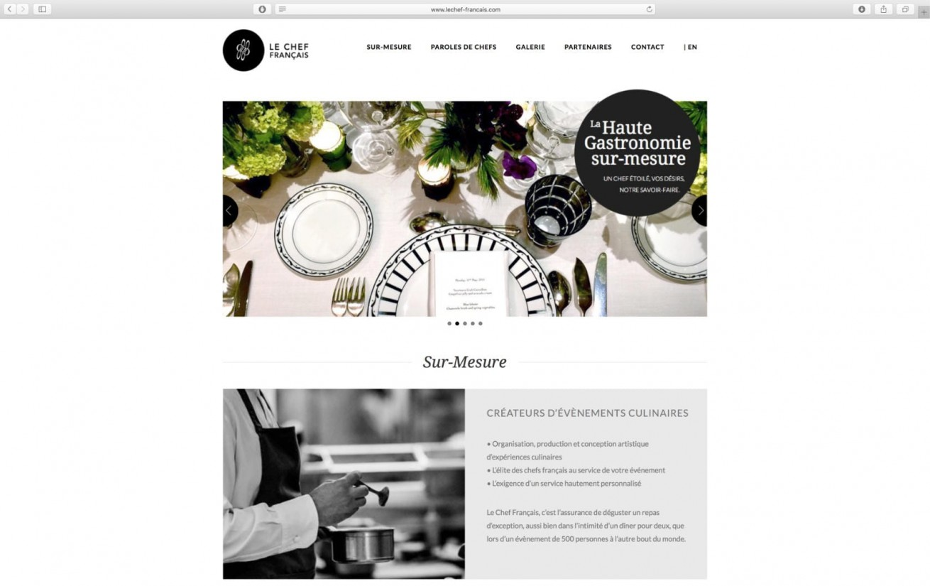 Le Chef Francais | Website by Artlinkz | Responsive CMS